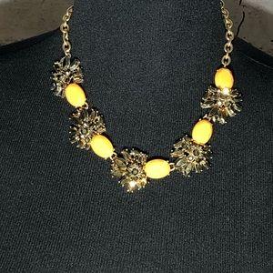 J. Crew Bronze Color Multi Crystal Necklace